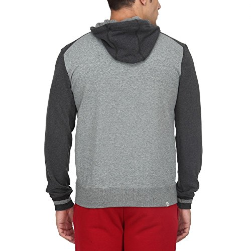 Puma Style Athl Hoodie Sweat Jacket Medium Grey Heater 83412532