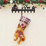 Weihnachtsschmuck Santa Schneemann Hängende Weihnachtsgeschenk-Taschen Weihnachtssocken-Weihnachtsgeschenke, Elche, die Große Weihnachtssocken Hängen