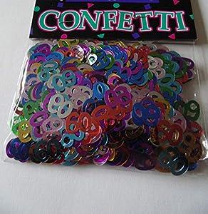 Shatchi CONFETTI-60TH-MULTI-1PK-14025 Confeti de 60 cumpleaños multicolor para decoración de fiestas, tarjetas de mesa, aspersores de 14 g unisex