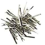 Homyl 50 Stück Metall Friseursalon Haar Clips Abteilklammern Haarklammern Krokodilklemmen Krokodil-Klammern - 6x80mm