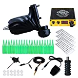 Dragonhawk Tattoo kit Rotary Machine Tattoo Gun Power Supply Needles for Tattoo Artist KT-335