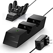 UGREEN PS4 Controller Charger PS4 Charging Station, 2.5 Hours Full Charge for 2 Controllers, DualShock 4 Charg