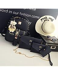 La nueva versión del paquete LiZhen ganó bolsas de hombro doble hembra silvestre tide remaches preppy students' mochilas escolares es informal elegante mochila