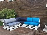 Mayaadi Home Palettenauflage Passend für Europalletten Palettenpolster Paletten-Sitzsofa für Drinnen und Draußen MH-GD03 (Rückenkissen Kurz 60x40x10/20 cm, Turkis)