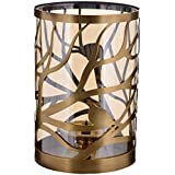 Starry Night Glass Candle Stand With Bird Design (16 Cm X 16 Cm X 23 Cm, Bronze)