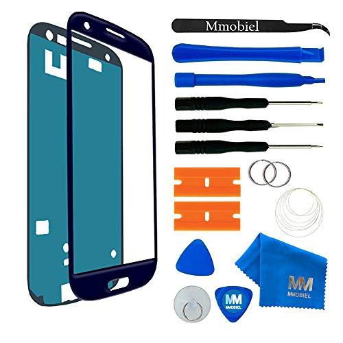 MMOBIEL Schermo tattile di Ricambio per Samsung Galaxy S3 i9300 i9305 / S3 Neo i9301 Series (Blu) incl Kit con 11 Attrezzi/pinzetta/Adesivo pretagliati/Panno Microfibra/Ventosa/Cavo Metallico