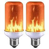 Lumiereholic LED Flamme E27 Lampe Flackernde Flamme Licht Effekt Feuer Glühbirne Wandleuchte Außenleuchte Flackerlicht für Haus Garten Bar Party Hochzeit Restaurant Valentinstag Deko [Energieklasse A+]