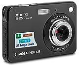 """AbergBest Fotocamera digitale 2,7"""" schermo LCD Videocamera digitale in HD per studenti, per ambienti interni o esterni, per adulti, anziani, bambini (Nero)"""