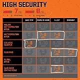 Kryptonite 6 Evolution Lite Mini 6-Verschluss mit Griff, Schwarz/Orange, One Size