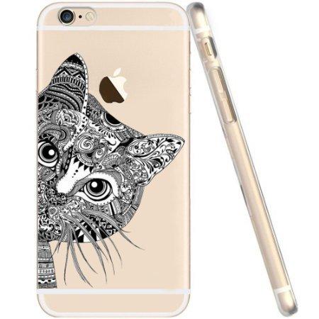 iPhone 6 Hülle von licaso® für das Apple iPhone 6 & 6S aus TPU Silikon Katze Schwarz Katzen Cats Schmusetiger Muster ultra-dünn schützt Dein iPhone 6 & ist stylisch Schutzhülle Bumper in einem (iPhone 6 6S, Katze Schwarz)