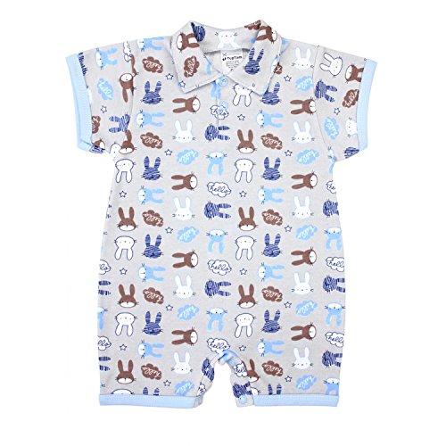 TupTam Baby Jungen Kurzarm Spieler mit Polokragen Baumwolle, Farbe: Kaninchen Blau/Grau, Größe: 68