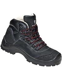 Max Guard C420Conan Chaussures de sécurité S3SRC, Randonnée, cuir de vachette Waterproof, noir, Taille 38–50