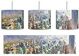 Dubai Hotel Burj al Arab Pinsel Effekt inkl. Lampenfassung E27, Lampe mit Motivdruck, tolle Deckenlampe, Hängelampe, Pendelleuchte - Durchmesser 30cm - Dekoration mit Licht ideal für Wohnzimmer, Kinderzimmer, Schlafzimmer