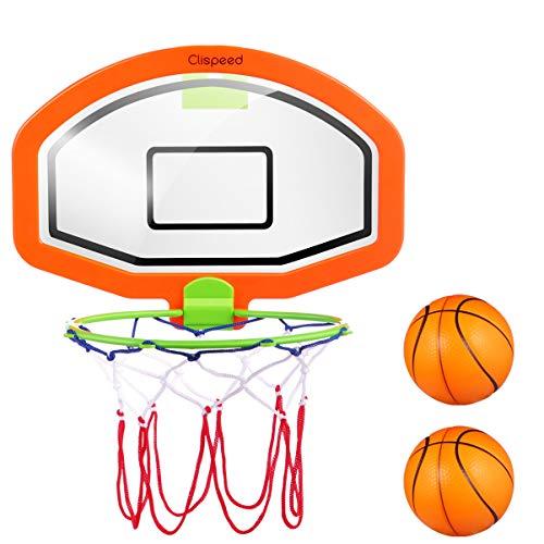 CLISPEED Mini Baskeballkörbe Backboard Basketball Hoop mit Bällen für Kinder Indoor Outdoor Fun