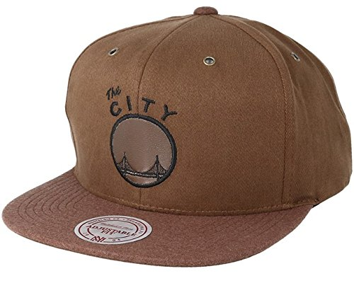Mitchell & Ness NBA HWC San Francisco Warriors INTL080 Terrain Snapback Cap Tan Brown Kappe Basecap