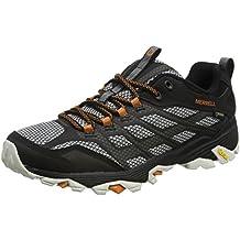 Merrell MOAB FST GTX Noir / Orange - Chaussures Chaussures-de-randonnee Homme