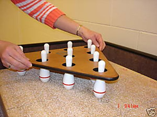 Sun-Glo Shuffleboard Bowling Pins and Pinsetter by Game Room Guys (Shuffleboard-pins)