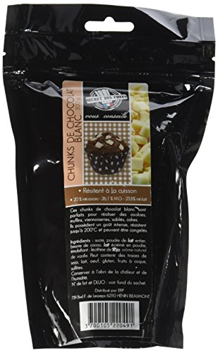 Secret des Chefs Chunks Chocolat Blanc 250 g - Lot de 3