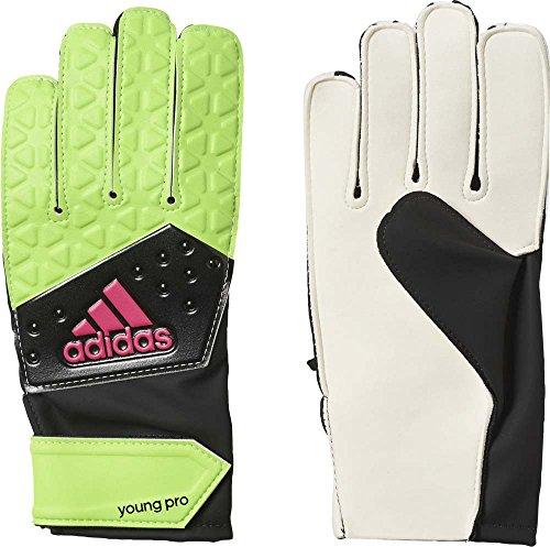 adidas Kinder Handschuhe Ace Young Pro, solar grün/core schwarz/shock pink s16/Weiß, 7, AI6853