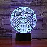 Fußballverein Team Logo 3D Led Lampe Fußball 7 Farben, Die Fernberührungssteuerung Usb Geschenkservice Ändern Nachtlicht