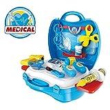 Doctora Juguetes, KidsHobby Caso Médico con Accesorios de Muñeca Juguetes Doctor Case 18 Piezas para Niños