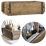 LS-LebenStil Holz Aufbewahrung-Box Ziegelform Unika 1-Fach 31x15x9,5cm Braun