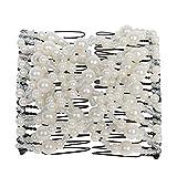 JUSTFOX - Trend Magic Combs Haarklammer weiß mit Perlen