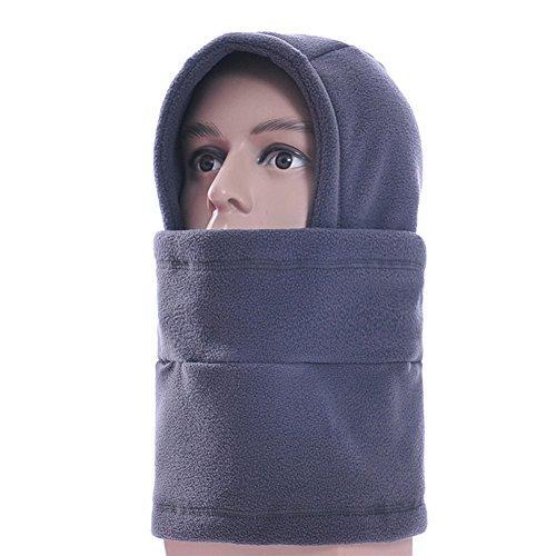 Elandy Unisexe Thermal Polaire Cagoule Multifonction Balaclavas – Jeu de Masque sombreros col Appareil de Plein air Sports d'hiver Snowboard Preuve, Gris
