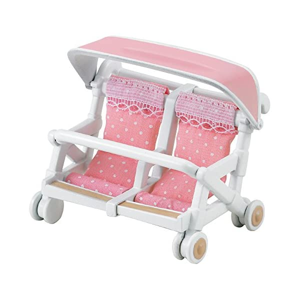 Sylvanian Families - Double Pushchair Sylvanian Families Accessory for your Sylvanian family home Pushchair for two babies Well-made with fine attention to detail 2