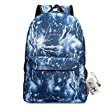 Backpack Bags,GIM Fashion Galaxy Sky Printing Schoolbags College Back Pack / School Backpack Fits Boys and Girls Teen.-Blue