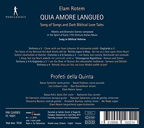 Quia Amore Langueo - Song of Songs and Dark Biblical Love Tales