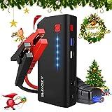 AZDOME Starthilfe Auto Powerbank Quick Charge 3,0 800A 18000mAh 66.6Wh Starthilfe Batterie Akku Ladegerät mit BOOST-Funktion( für zu schwach Batterie)Dual USB Ausgänge(5V/3.0,5V/2,1A),LED Taschenlampe