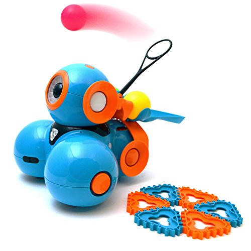 51NBX%2BeUVlL - Wonder Workshop - Lanzador de proyectiles para su robot educativo Dash, color naranja (BF01)