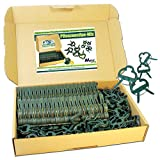 MGS SHOP Pflanzenclips 100 Stück stabile Clips Pflanzenklammern für kleine & große Triebe Spaliere Rosenbögen Rankhilfen (100er-Set MIXED)