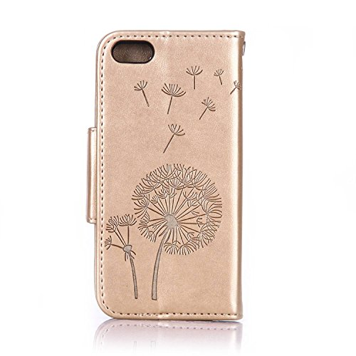 iPhone 6 / 6S Plus Hülle Leder Bling Glitzer Schmetterling Handy Tasche Wallet Case Flip Cover Etui,EMAXELERS iPhone 6S Plus Hülle Glitzer,iPhone 6S Plus Hülle Blumen,iPhone 6S Plus Hülle Bling,iPhone Glitter Dandelion 3