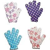Magnusdeal® Flower Printed Bath Body Scrubber Glove Exfoliating Shower Bath Glove Scrubber Shower Dead Skin Cell...