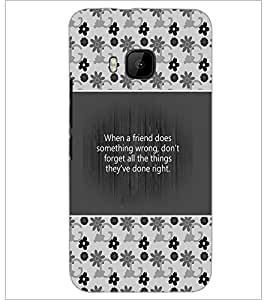 PrintDhaba Quote D-4180 Back Case Cover for HTC ONE M9 (Multi-Coloured)