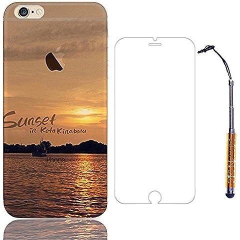 Sunroyal® Creative 3D TPU Custodia per Apple iPhone 4 4S