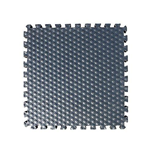 6 x Stallmatte >Luckymat< extra stoßdämpfende EVA Boxenmatte schont die Pferdegelenke | rutschfest und besonders wärmedämmend | 60 x 60 cm - 24 mm