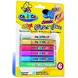 Carioca - Blister con 6 piezas, glitter glue (A77100010)