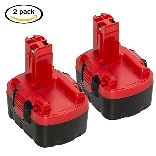 2X LiBatter 14.4V Ni-MH 3.0Ah Rechargeable Batterie pour Bosch 13614 13614-2G 15614 1661 1661K 22614 23614 et Compatible avec 2 607 335 685 2 607 335 694 2 607 335 264 2 607 335 276