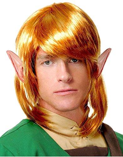 Elf, Krieger Perücke Link zu The Legend of Zelda Erwachsene Zubehör Blonde Costume