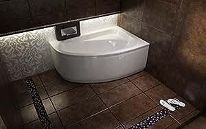 Besco Offset Corner Bath *CORNEA* SPACE SAVER 1400 x 800