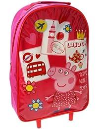 Trade Mark Collections - Mochila con ruedas con diseño de Peppa Pig, color rojo
