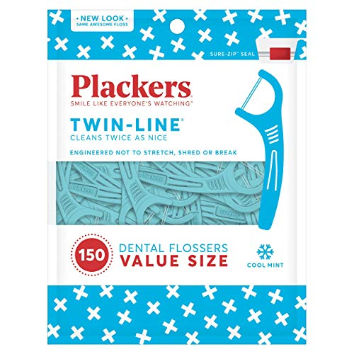 Plackers Twin-Line Dental Flossers by Plackers Line Stick