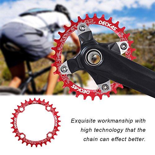 DECKAS Kettenblatt für Mountainbike, schmal, breit, rund, oval, 1 Stück
