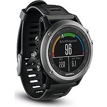 Garmin Fenix 3 - Reloj multideporte con GPS y correa, color Reloj Gris/Correa Negra, talla única
