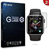 RIFFUE Apple Watch Series 4 44 mm Protector de Pantalla, Cristal Templado 9H Dureza 3D Touch Glass Premium Screen Protector Film para iWatch 4 / Apple Watch Series 4 44mm [2 Unidades]