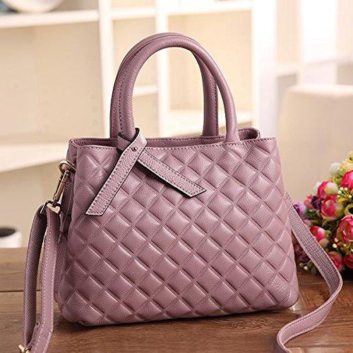 Mefly Le Donne Della Spalla Di Borsa A Tracolla Ladies' Borsa In Pelle Blu Royal Pink