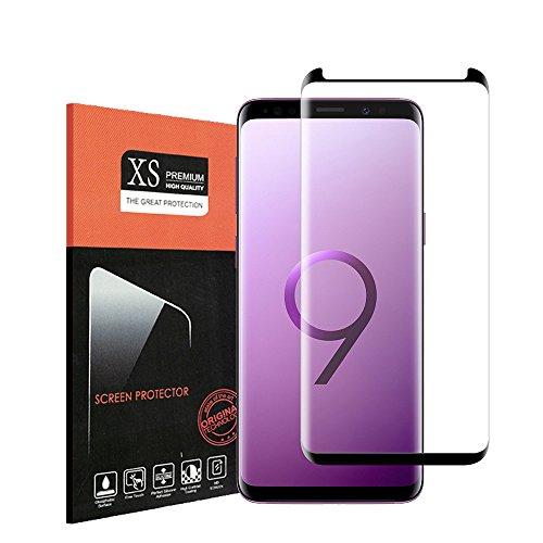 Für Galaxy S9 Schutzfolie,Halier 9H Härte,HD Anti-Öl,Kratzer, Blasen und Fingerabdruck,Einfaches Anbringen,Panzerglasfolie Displayschutzfolie für Samsung Galaxy S9
